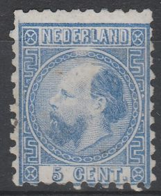 The Netherlands 1867 - King Willem III Third emission, with plate flaw - Mast 7 PM1