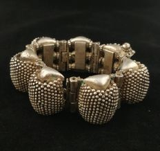 Antique silver bracelet - India, Rajasthan, early 20th Century