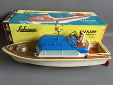 "Schuco, Western Germany - Length 36 cm -plastic / tin ""Elektro Nautico"" Boat 5550 with battery engine, 1960s"