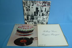 3 Albums The Rolling Stones - Exile On Mainstreet (2 LP) - Let it bleed - Beggars Banquet