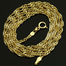 14 Kt Yellow Gold Chain 45 cm