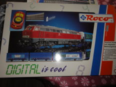 Roco H0 - 41101 - Starter set 'digital is cool' with a freight train and a Series BR 215 diesel locomotive of the DB