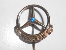 Mercedes - pin 500,000 km - silver 835 with sapphire from approx. 1960