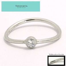 Tiffany & Co. - 950 Platinum Solitaire Diamond Engagement Ring - Size 4