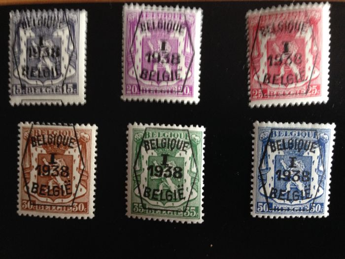 Belgium - Selection of pre-cancelled series OBP PRE333/348, PRE560/685 and PRE699/779