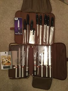 Two Sets of Chefs  Knives by Waltmann und Sohn