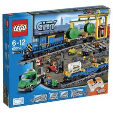 City - 60052 / 7499 Cargo train and rails and extra rails