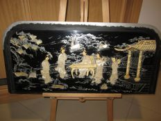 Large oriental black panel - China - second half 20th century