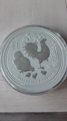 Australia - 300 dollar 2017 'Lunar II Year of the Rooster - 10 kg silver