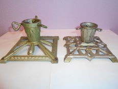 Two Christmas tree stand Art Nouveau