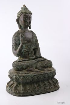 Bronze Buddha - China/Tibet - 2nd half 20th century