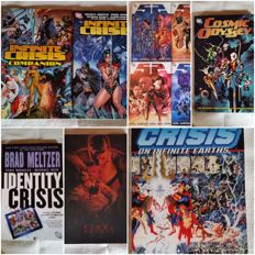 DC Comics Crisis Crossover lot: Crisis on Infinite Earths, ID Crisis, Infinite Crisis, 52, Final Crisis Cosmic Odyssey and more!