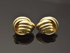 18 kt Gold -  Earrings -  Weight: 7.7 g