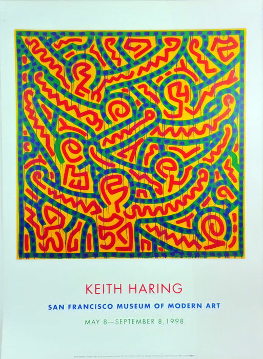 Keith Haring - 3 Exibition posters - 1998-1999