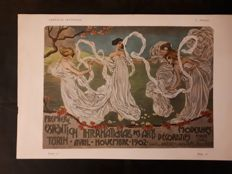 Leonardo Bistolfi, advertising for the Internationale Des Arts Decoratif Modernes Turin, 1902