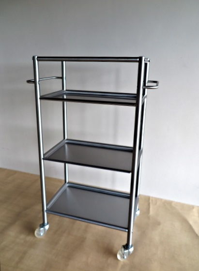 Kitchen Etagere Stainless Steel On Wheels, 77 Cm High, Set Solingen  Stainless Steel Kitchen Knives And A Stainless Steel Toaster Oven
