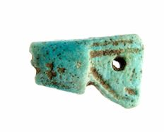 Ancient Egyptian Faience Crown Amulet - GIFT BAG - 21 mm