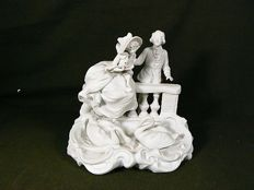 Scheibe Alsbach - Beautiful romantic statue made of white bisque porcelain