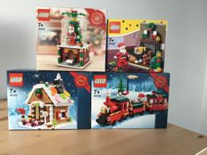 Christmas - 40125/40138/40139/40223 - Santa's visit/Christmas Train/Gingerbread House/Snowglobe