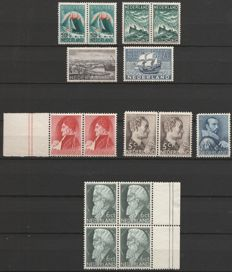 The Netherlands 1933/1935 - selection of series and separate values