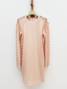 Seam dress Chloé, powder pink nude