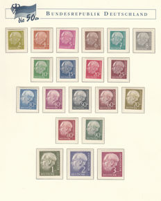 Federal Republic of Germany 1953/1959 - Nearly complete collection in a special German Post preprint album