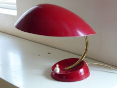 Designer unknown - Red metal desk lamp