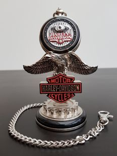 "Harley Davidson ""Low Rider"" collector's pocket watch on stand - Franklin Mint"