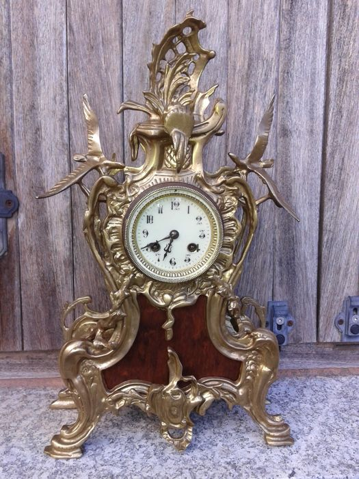 Bronze French clock, cartel type - Paris, Japy Freres, 'medaille d'honneur' - 1870-1900 (approx.)