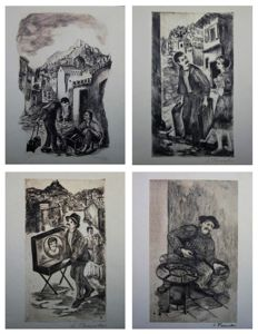 Lela Paschali (1914-1977) - Four traditional professions