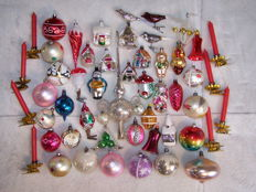 Antique/old Christmas baubles and decorations