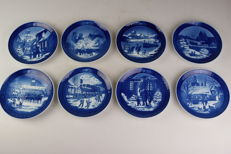 8x Royal Copenhagen Christmas plates from 1992 to 1999 - First choice - Various Artists