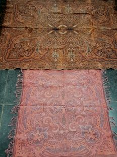 2 antique root cloths from the 1950s