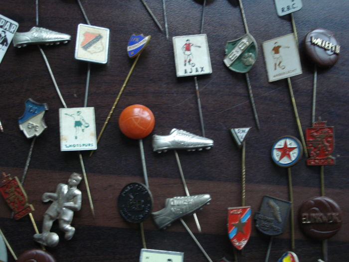 More than 125 football badges and pins from around the world