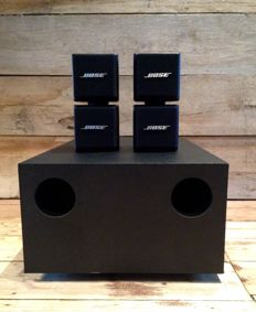 Bose Acoustimass AM-5 + double/twin cube speaker systeem
