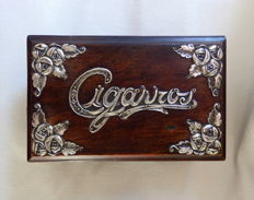 Cigarette Box with Sterling Silver Mounts - Portugal - 1900's