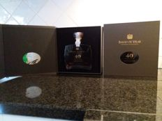 40 year old Tawny Port - Barao de Vilar Port in a glass decanter with wooden cork cap - 2 bottles