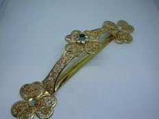 Hand-made silver hair clip from the Austria-Hungary period