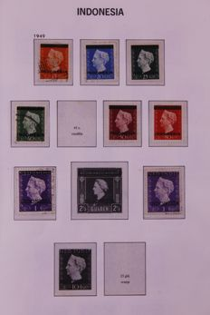 Indonesia 1949/1991 - Collection in 2 Davo Crystal preprint albums
