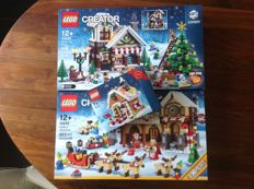 Creator - 10245 + 10249 + 40139 -  Santa's workshop + Winter Toy Shop + Gingerbread House