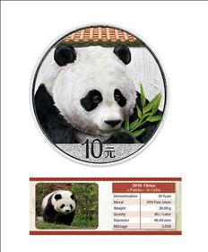 China - 10 Yuan - Panda 2018 - exclusive colour edition - with certificate - Edition of only 5,000 pieces