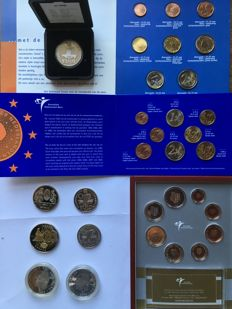 Spain/The Netherlands/Czech Republic/Monaco - Various Euro coins and Probe (among which silver)