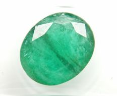 Emerald Intense Bluish Green 6.72 ct Fine color quality