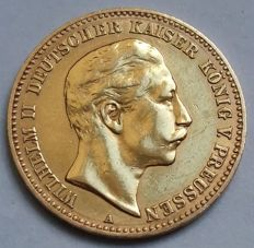 German Empire, Prussia - 10 mark 1900 A - gold