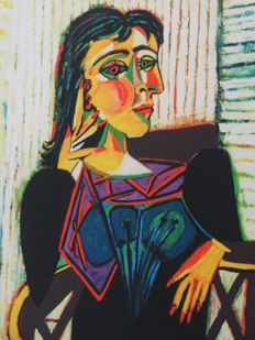 Pablo Picasso (after) - Portrait of Dora Mar Seated