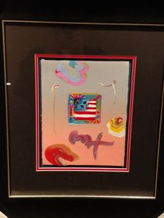 Peter Max  Finkelstein/Peter Max - Flag with Heart