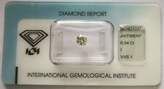 Brilliant cut diamond  0.54 ct  I VVS1   ***Low Reserve Price***