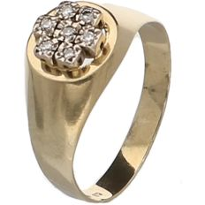 14 kt Yellow gold fantasy men's ring