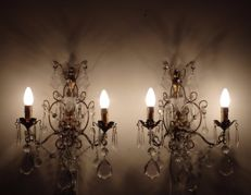 Pair of antique sconces - Restored - 1940/50