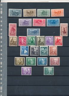 Italy 1932/1938 - Selection of stamps - Sassone NN. 315/324, 439/448, A111 / A116.